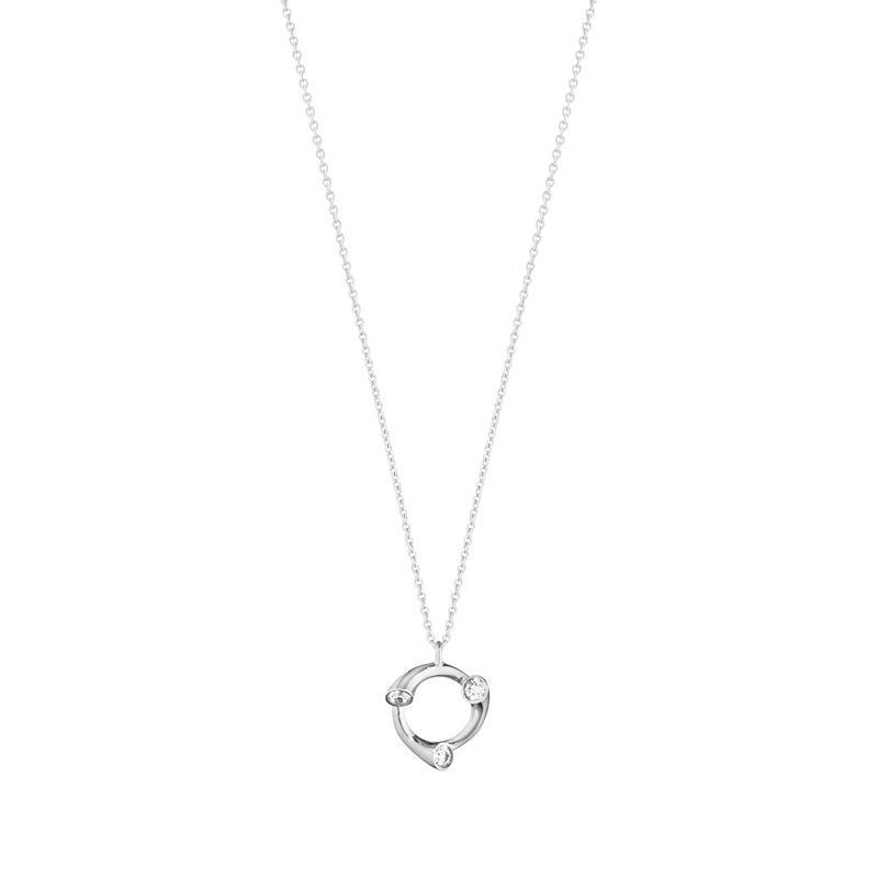 Georg Jensen Magic halskæde i 18 kt. hvidguld med cirkel vedhæng