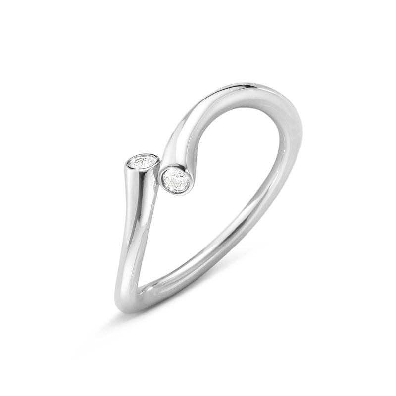 Georg Jensen Magic ring i 18 kt. hvidguld med brillanter
