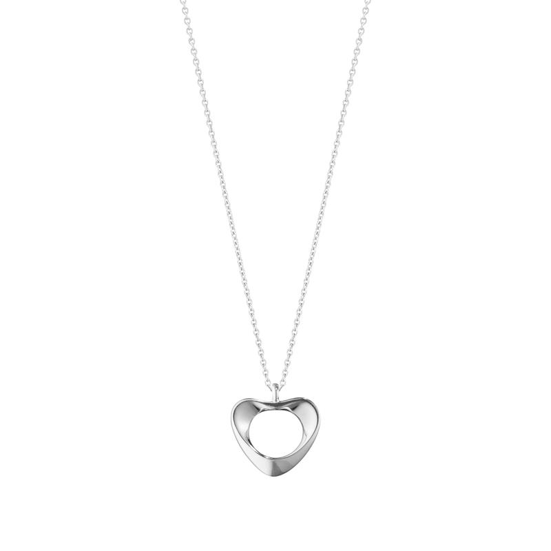 Georg Jensen Koppel hjerte halskæde i sølv - lille model