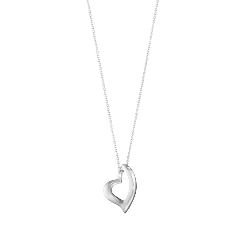 Georg Jensen Hearts halskæde med hjerte vedhæng i sølv