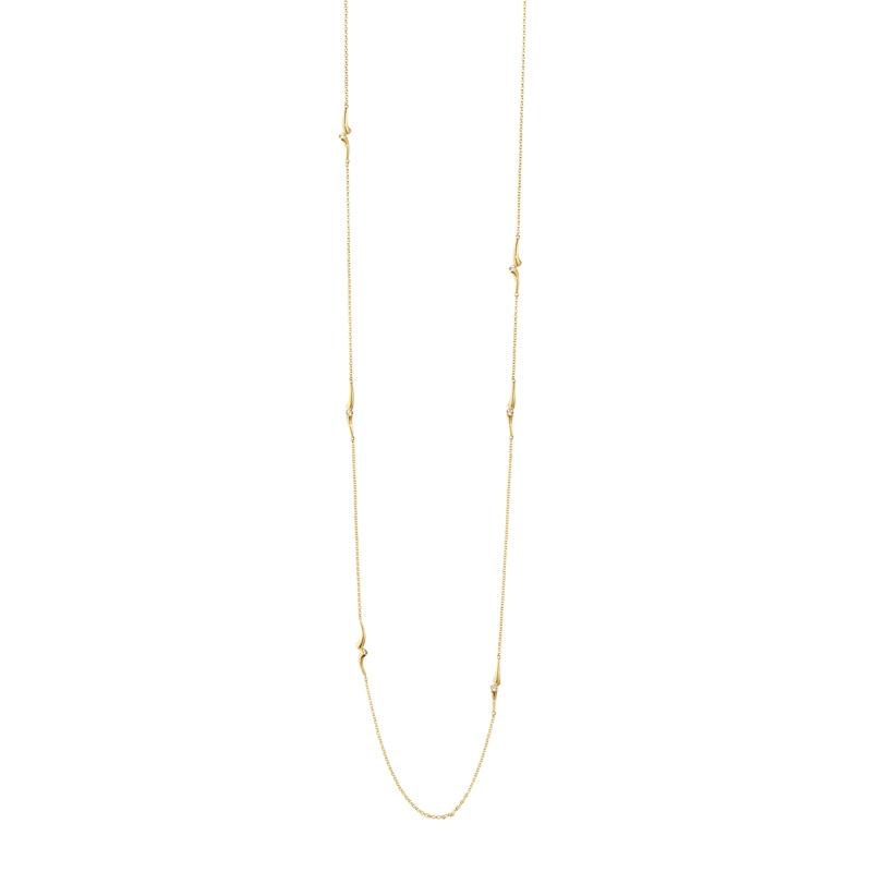 Georg Jensen Magic sautoir lang halskæde i 18 kt. rødguld med brillanter
