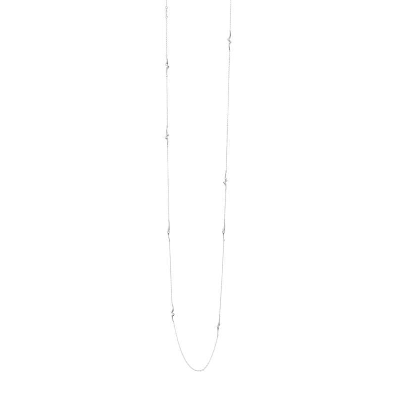 Georg Jensen Magic Sautoir lang halskæde i hvidguld med brillanter