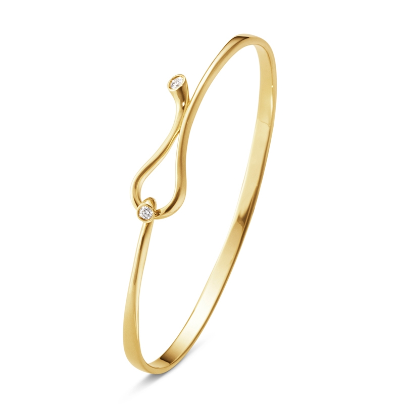 Georg Jensen Magic armring i 18 kt. rødguld med brillanter