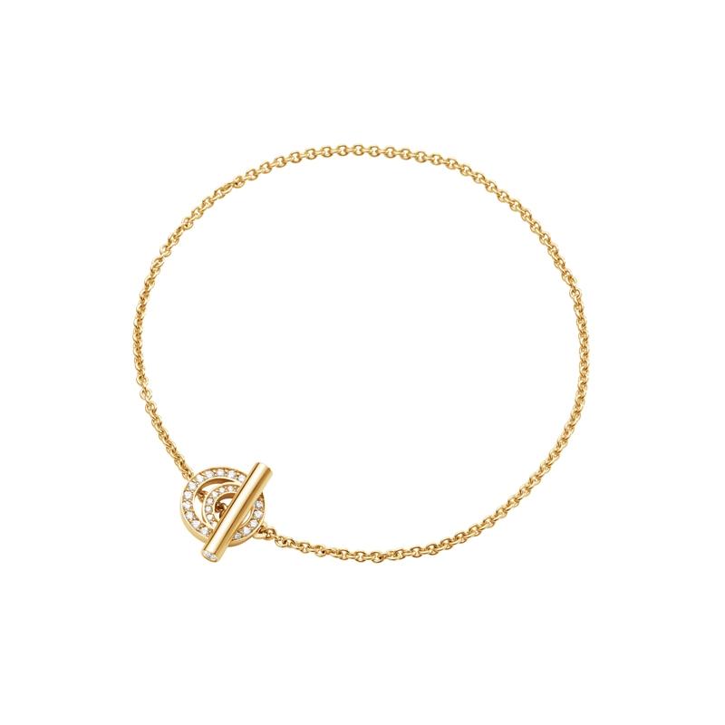 Georg Jensen Halo armbånd i guld med brillanter-str_s_m