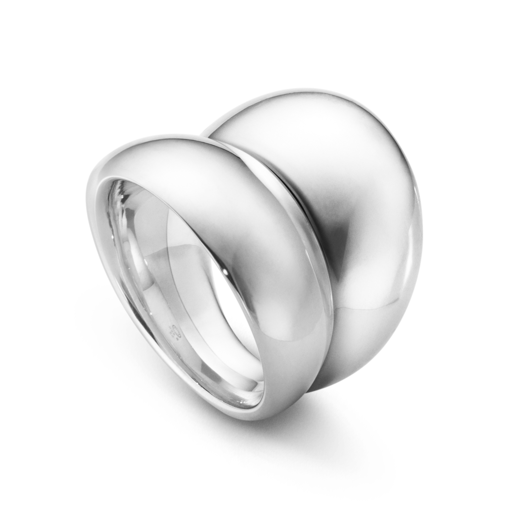Image of   Georg Jensen Curve ring bred, 501, sølv