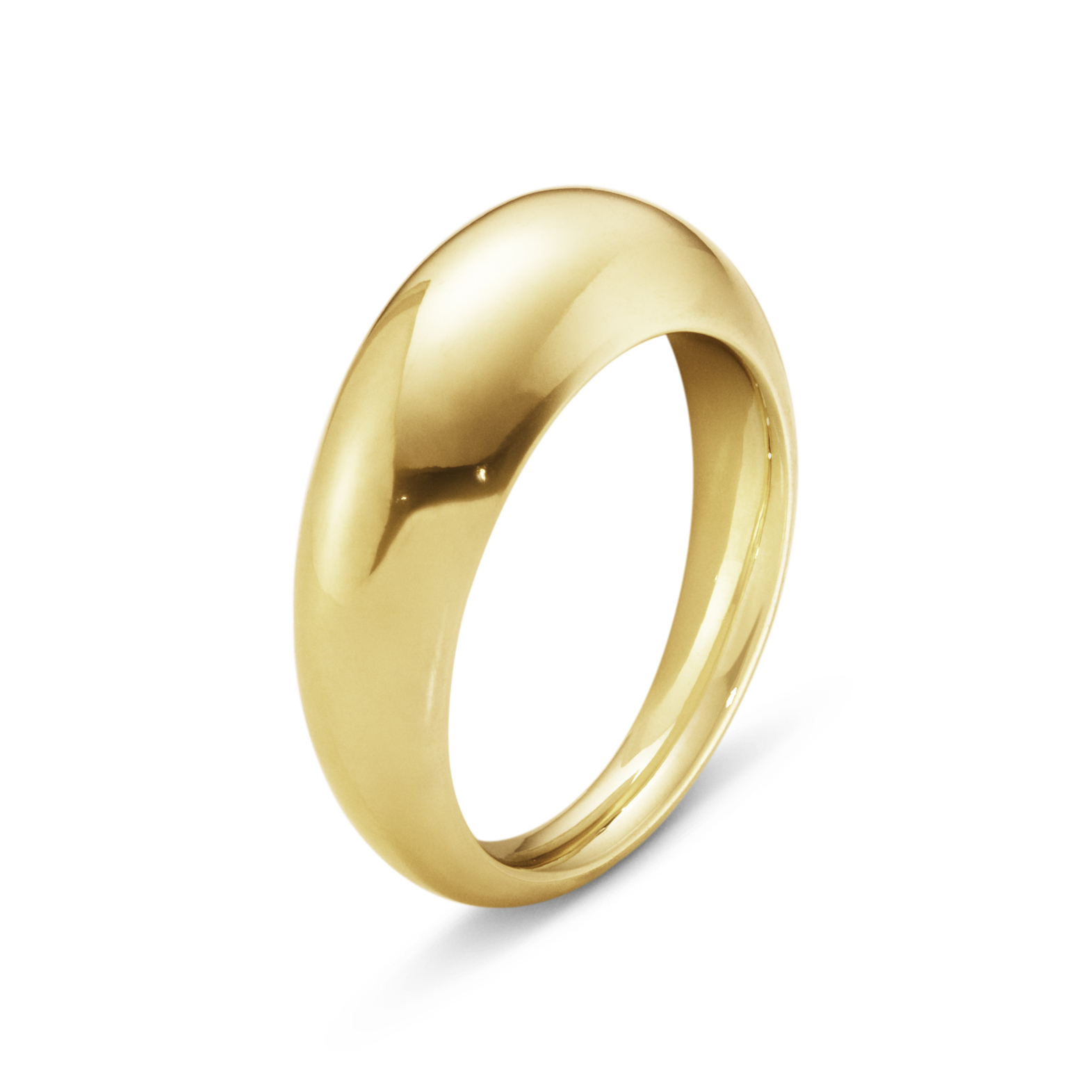 Image of   Georg Jensen Curve ring slim, 1640A, guld