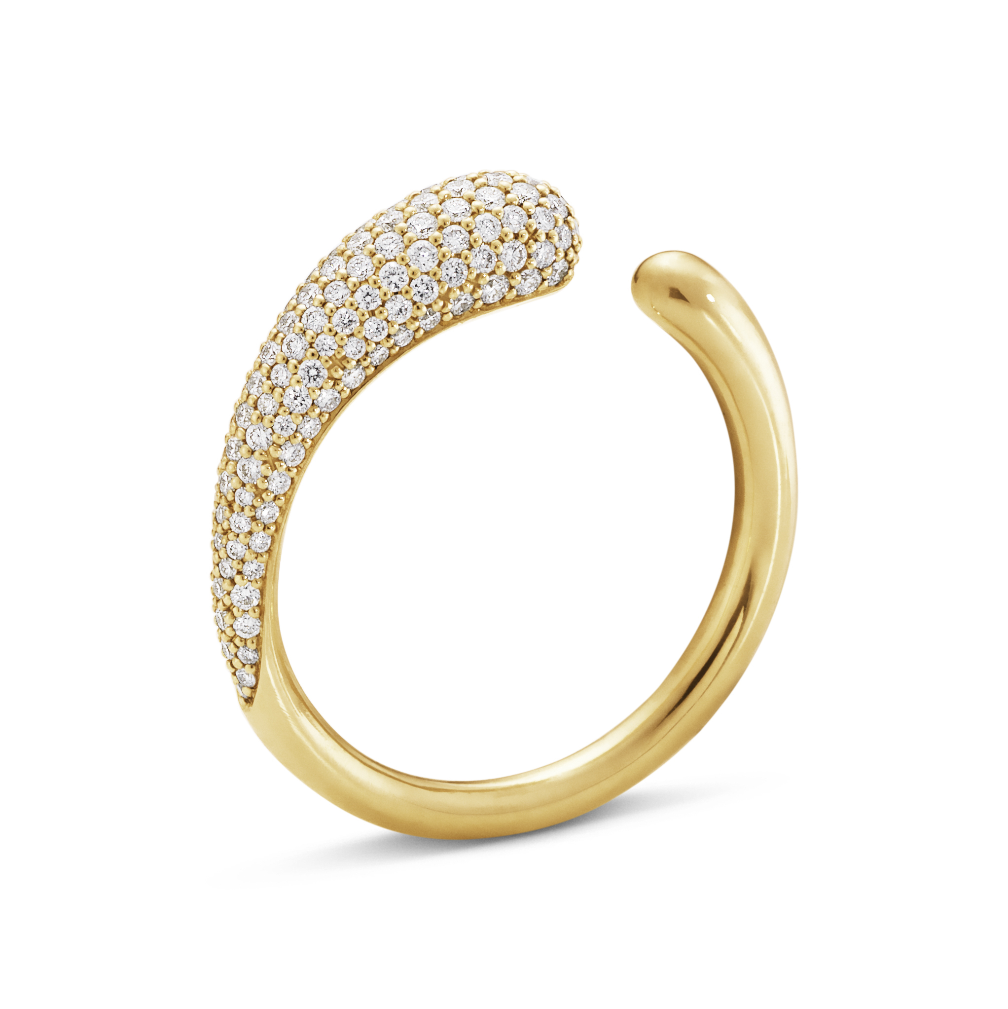 Image of   Georg Jensen Mercy ring i guld med brillanter
