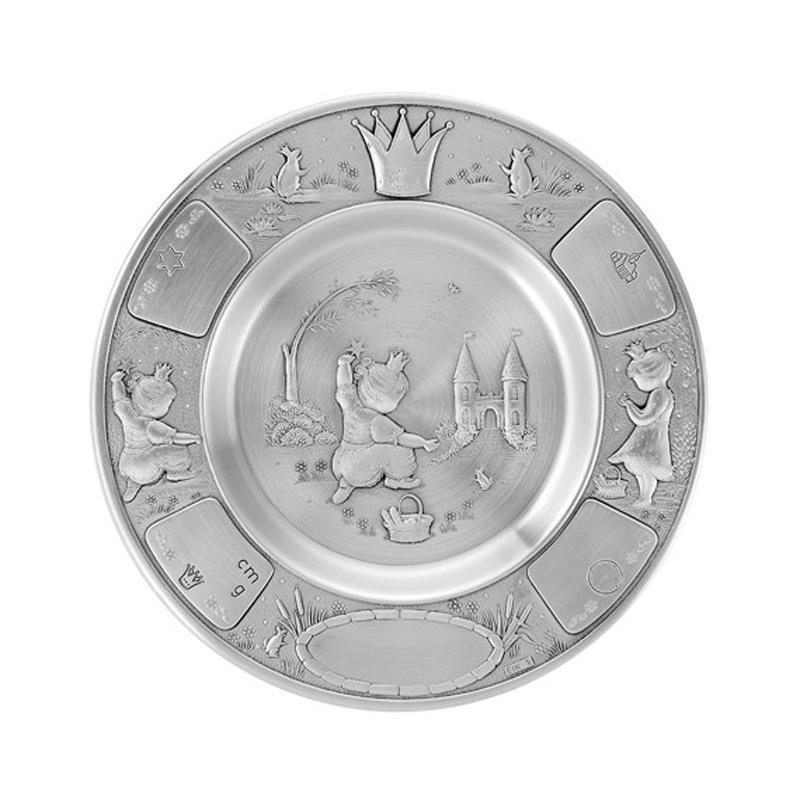 Image of   Dåbstallerken Prinsesse, tin