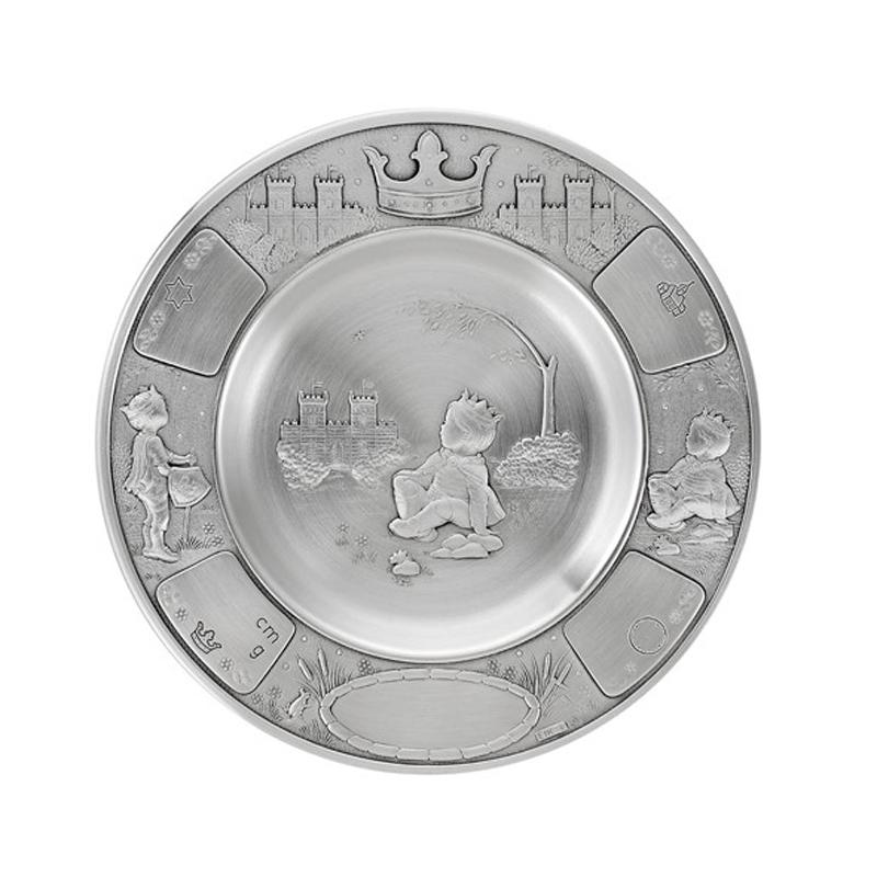 Image of   Dåbstallerken Prins, tin