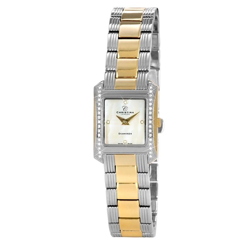 Image of   Christina Watches bicolour dame armbåndsur med 38 diamanter