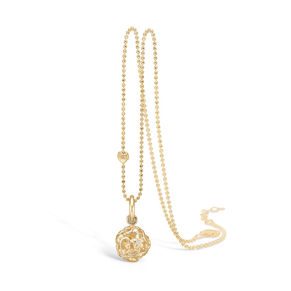 Image of   Blossom vedhæng i 14 kt guld med 6 diamanter