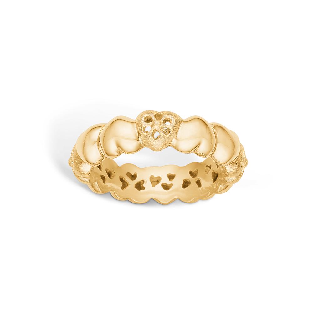 Image of   Blossom ring i 14 karat guld i mat/blank
