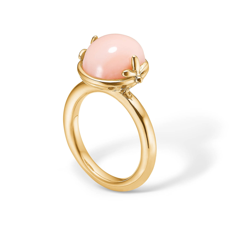 Blossom 14 kt. guld ring med koral