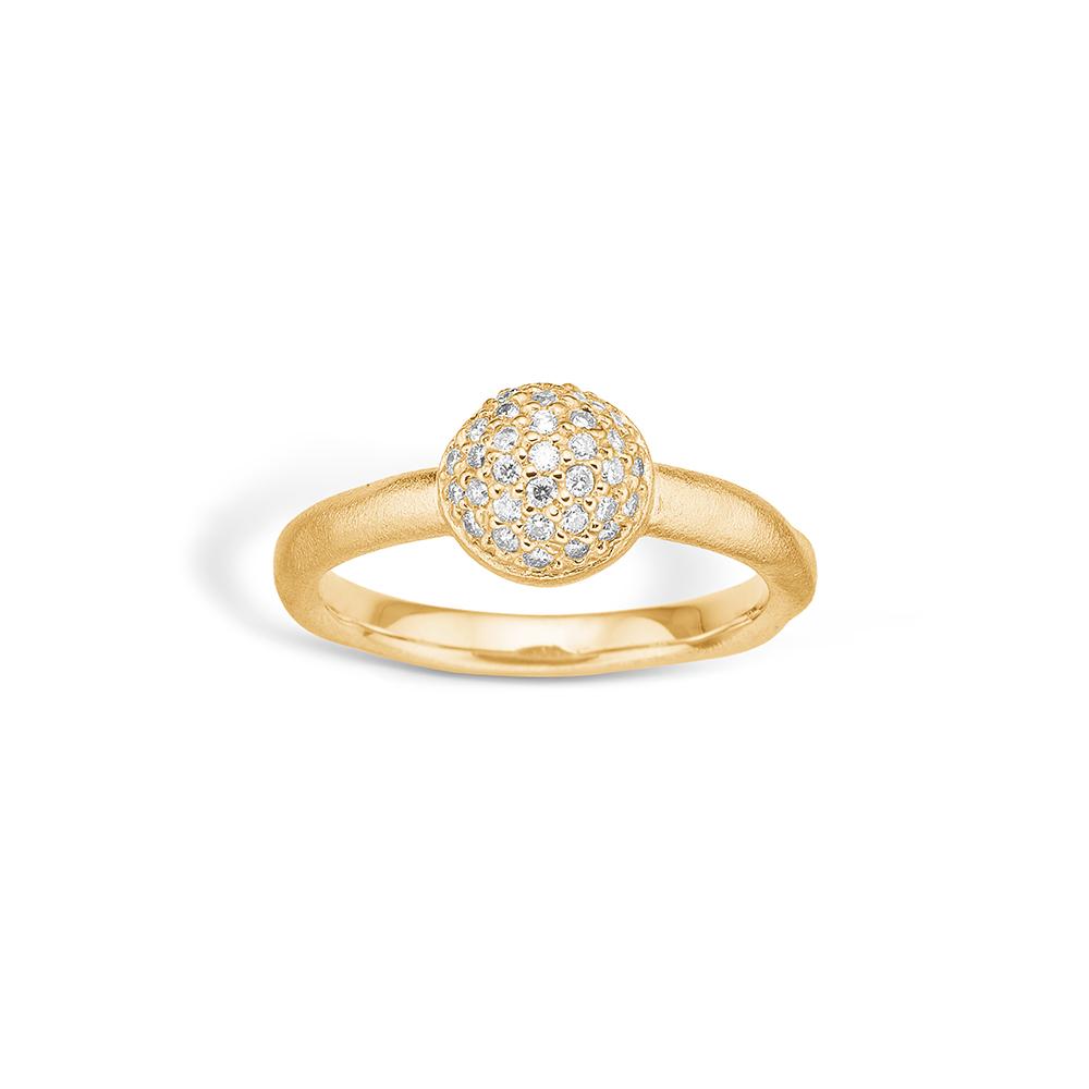 Image of   Blossom ring i 14 kt guld med 33 diamanter