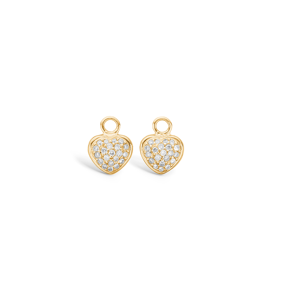 Blossom vedhæng til øreringe i guld med 42 diamanter