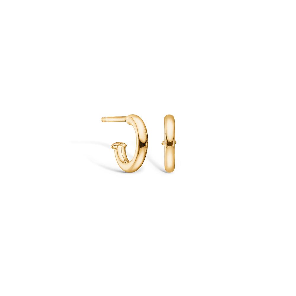 Image of   Blossom ørering i 14 kt guld, 10 mm