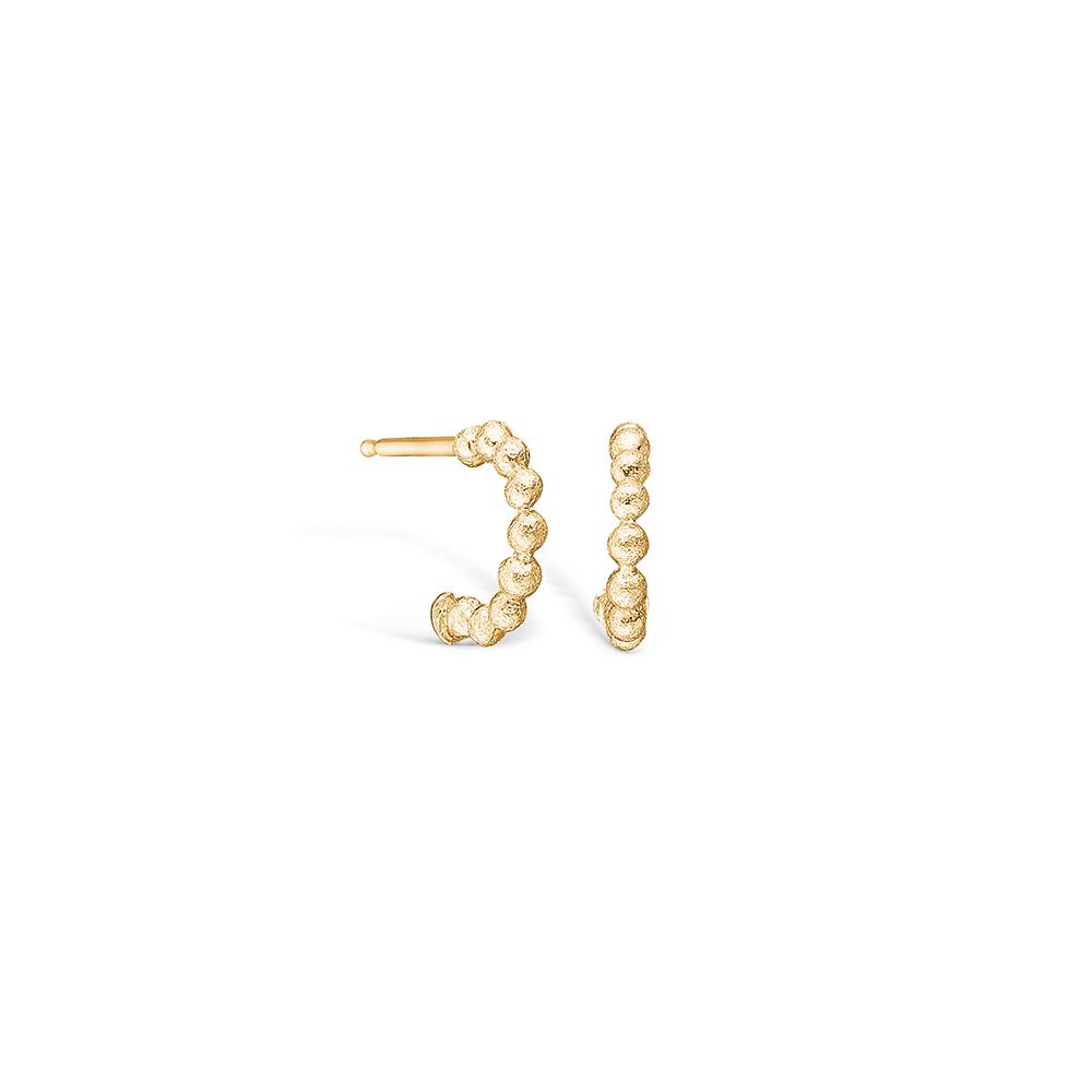 Image of   Blossom øreringe i 14 kt guld med kugler 10 mm