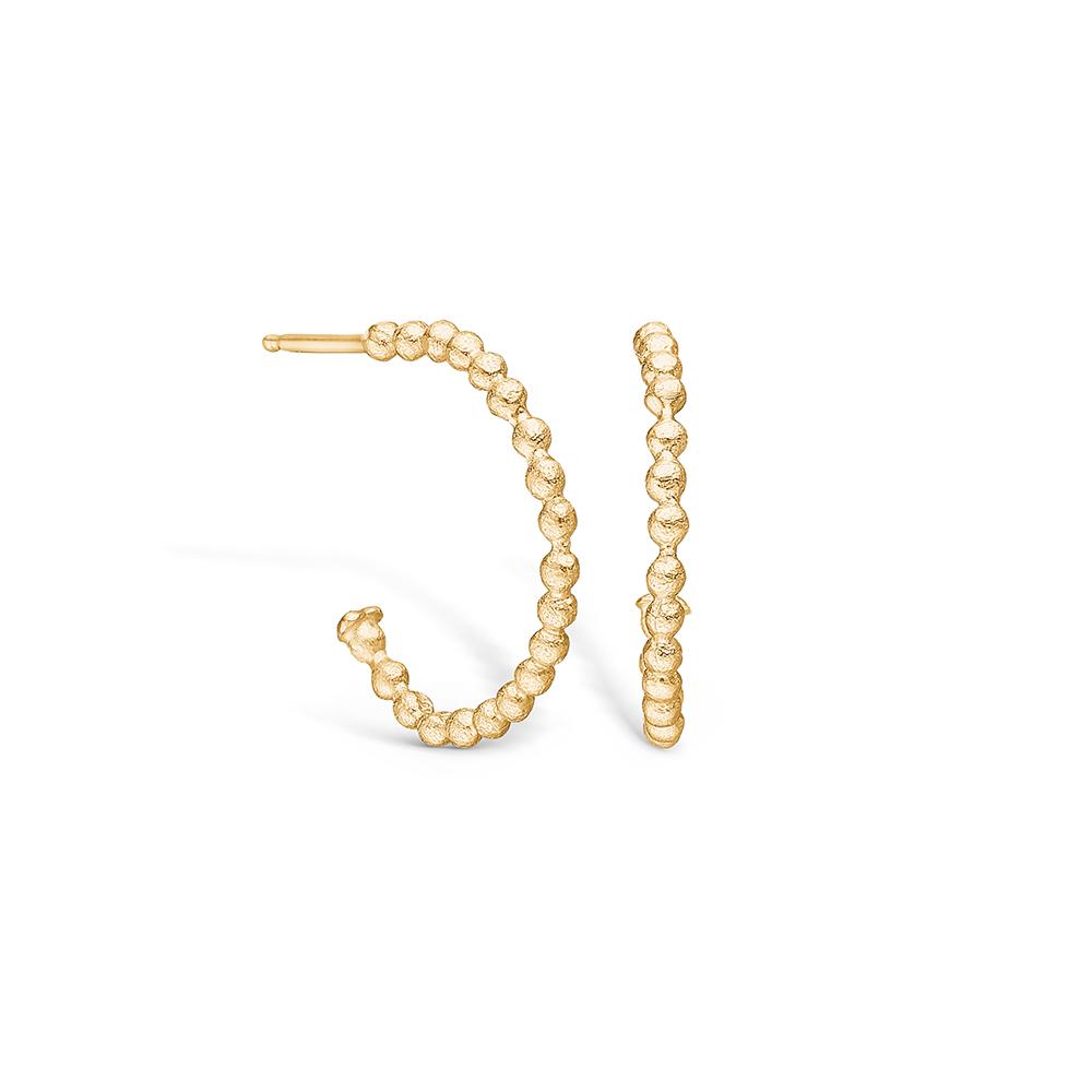 Image of   Blossom øreringe i 14 kt guld med kugler 20 mm