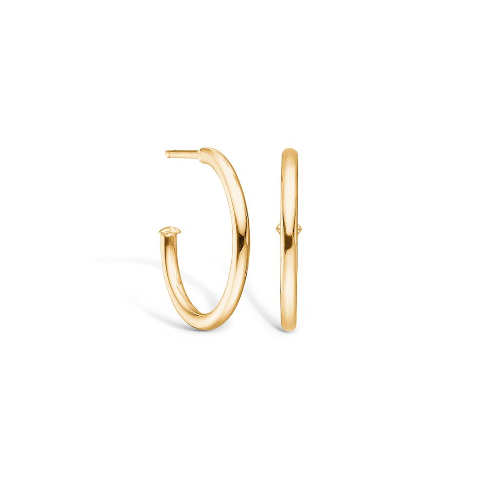 Image of   Blossom ørering i 14 kt guld, blank 20 mm