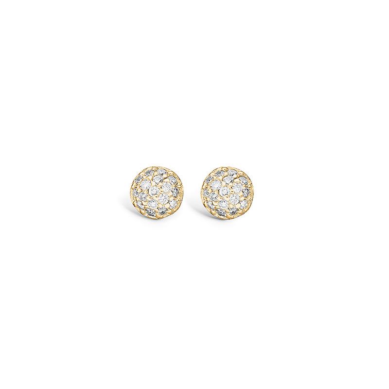 Blossom ørestikker i 14 kt guld med 34 diamanter