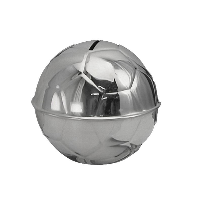 Image of   Sparebøsse Fodbold, sølvplet