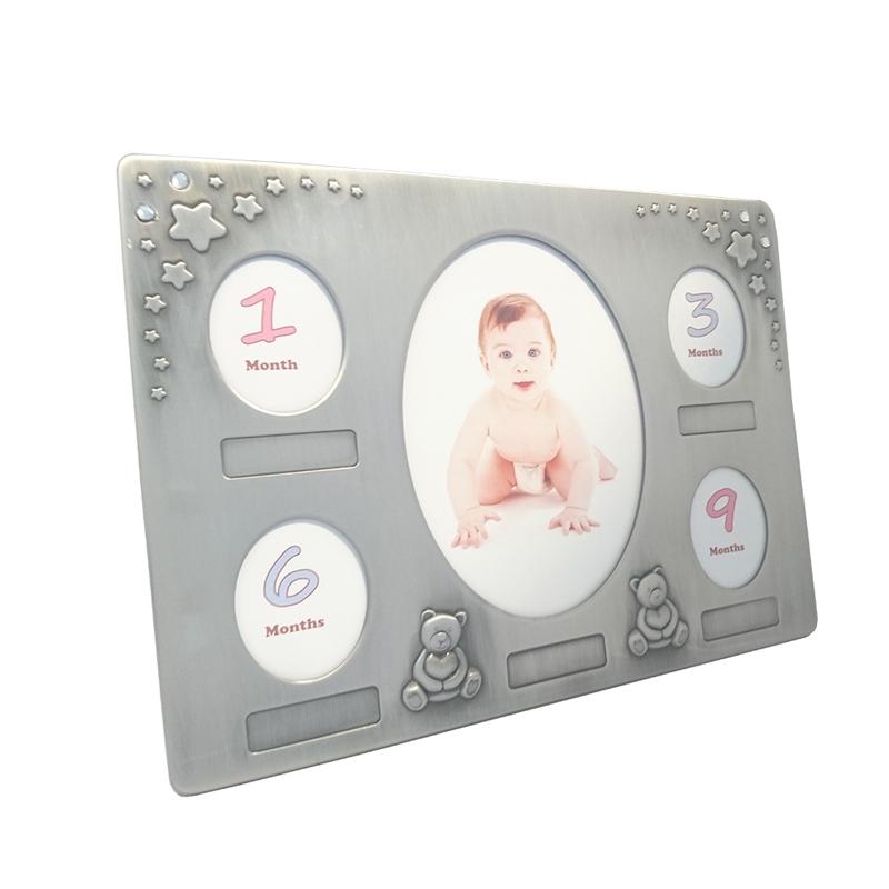 Fotoramme med plads til 5 babybilleder i fortinnet thumbnail