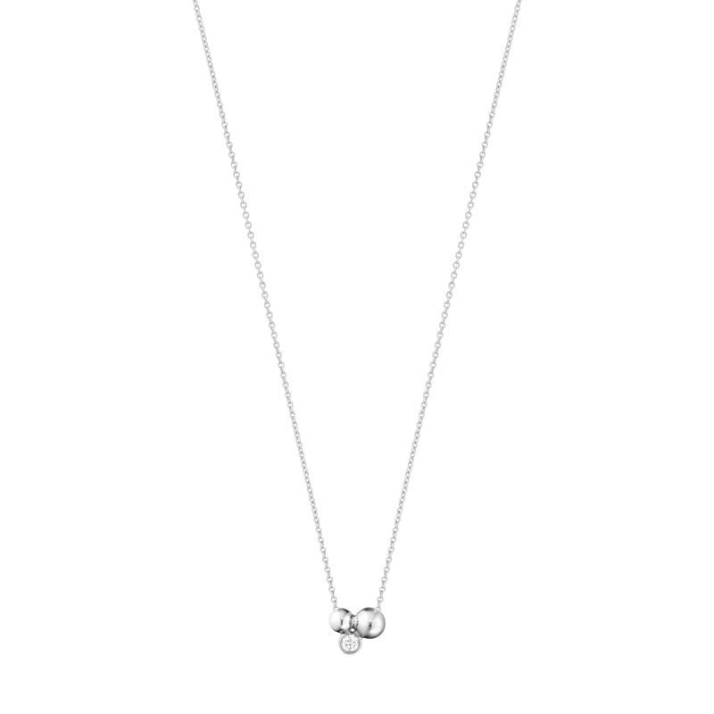 Georg Jensen Moonlight Grape Vedhæng i sølv med diamant