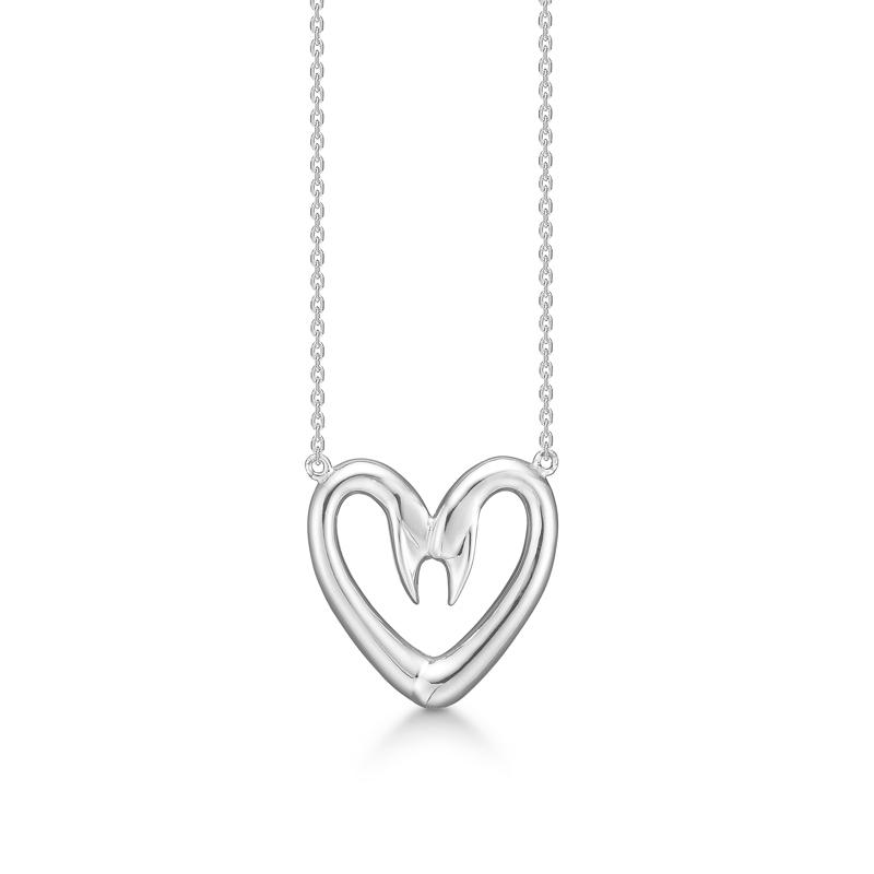 Image of   Mads Z Love Swans stor halssmykke i sølv
