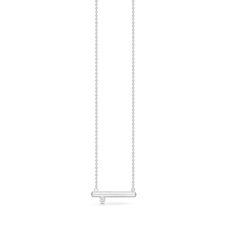 Image of   Mads Z Silver Barres halskæde i sølv med brillant