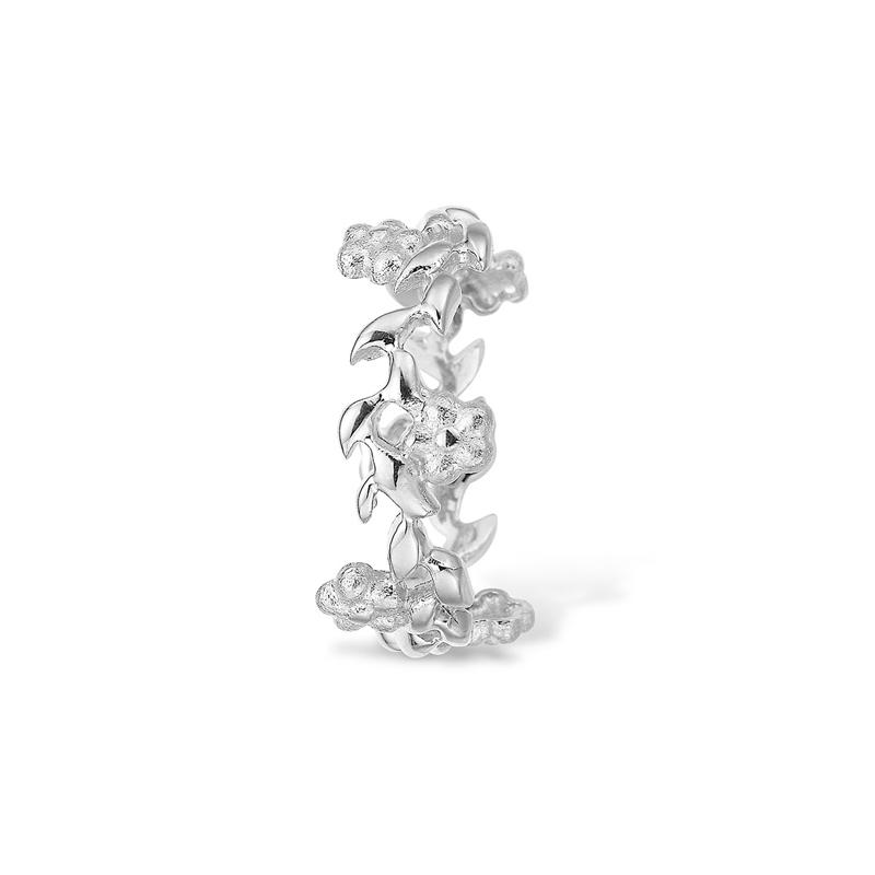 Image of   Blossom sølv ring med blomster