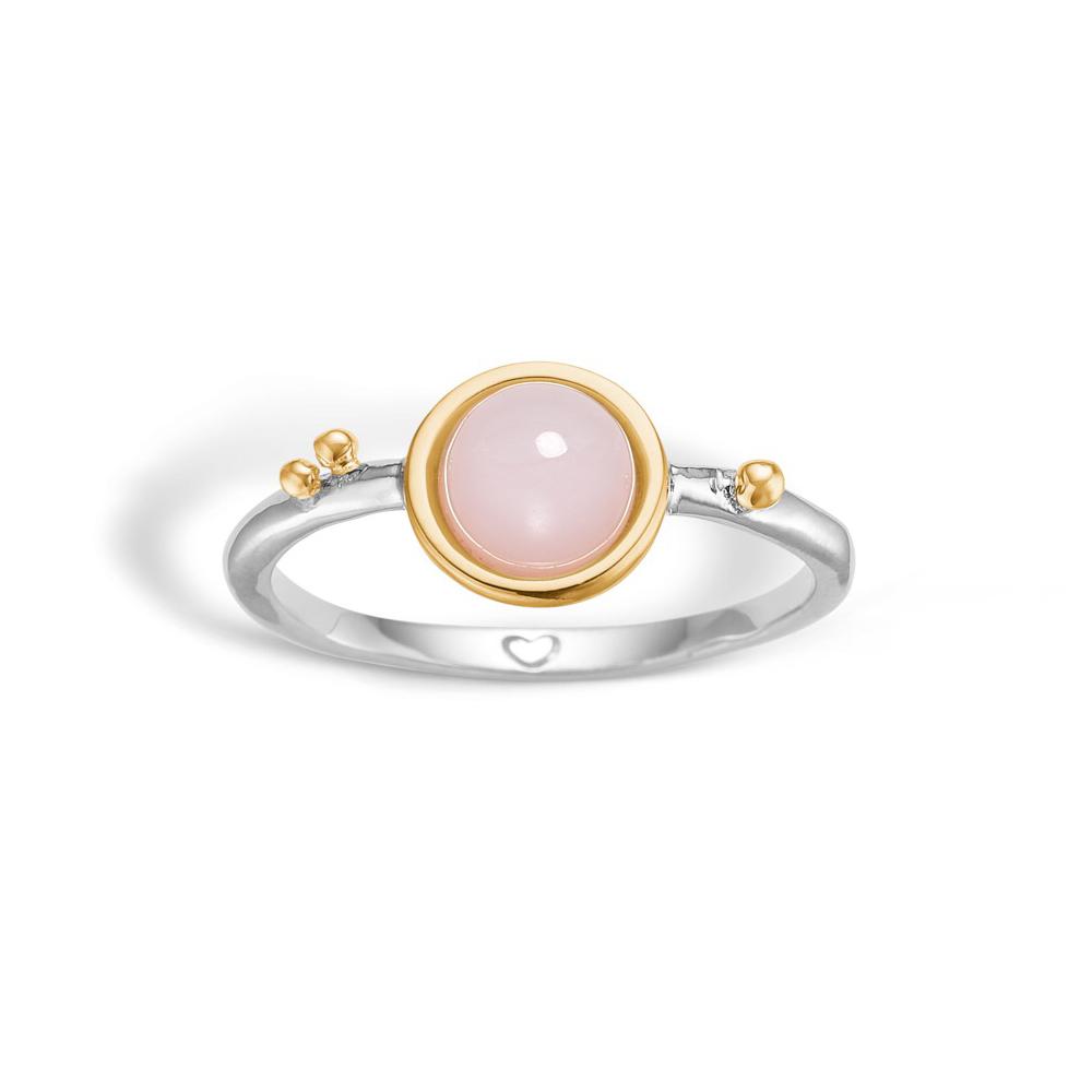 Image of   Blossom sølv ring med pink opal