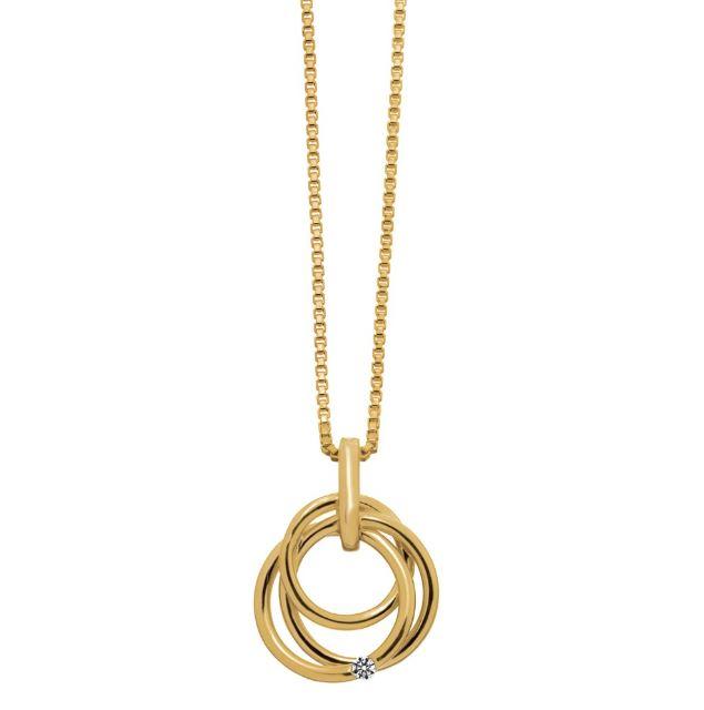 Nordahl vedhæng i 14 kt guld med diamant 14kt Guldvedh m/0,02 ct W/Si