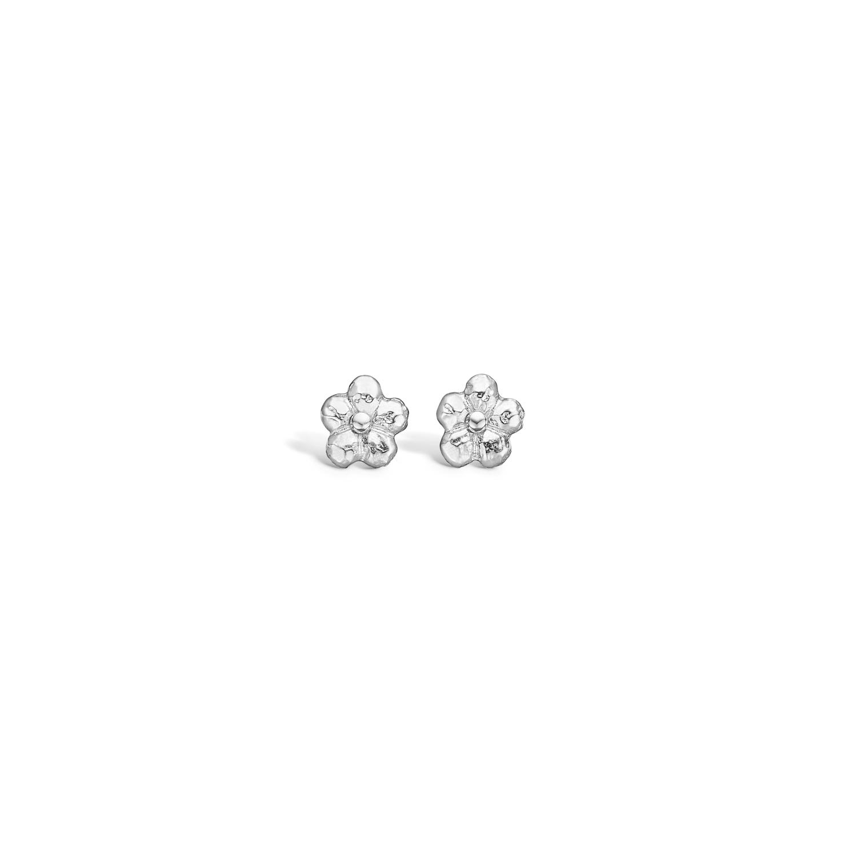 Image of   BLOSSOM små blomster ørestikker i sølv