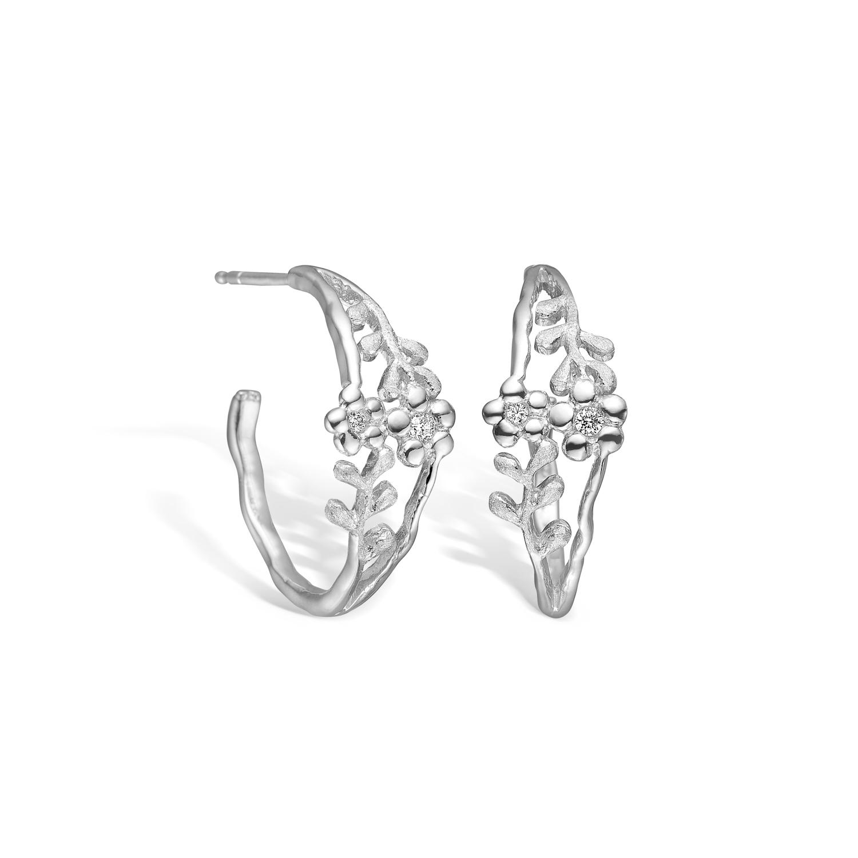 Image of   BLOSSOM ørering i sølv med blomster