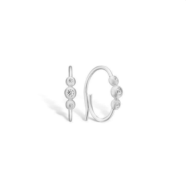 Image of   BLOSSOM øreringe i sølv med cz