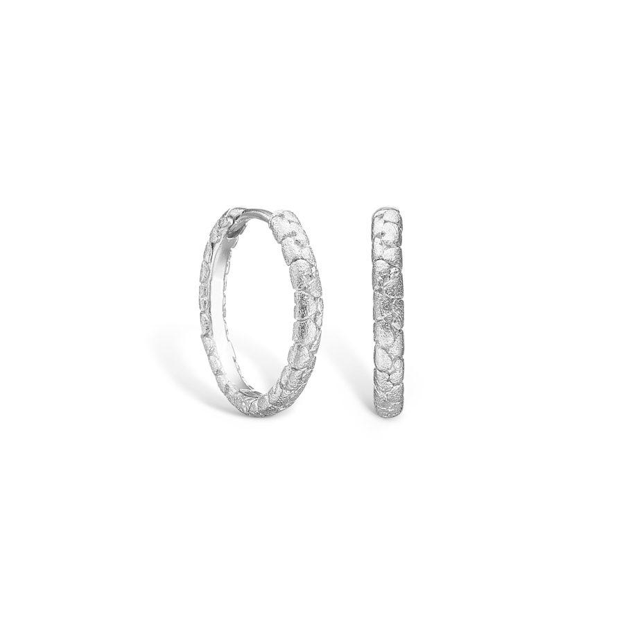 Image of   BLOSSOM øreringe i sølv med hjerter Ø19