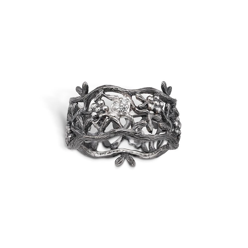 Ring - sort sølv