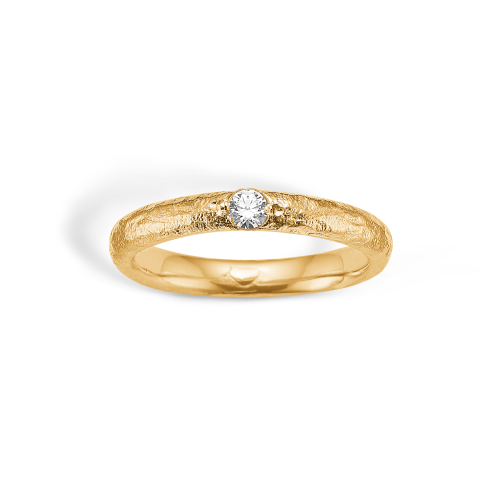 Image of   Blossom forgyldt ring med cz