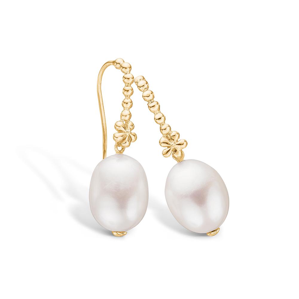 Blossom forgyldte perle ørehænger thumbnail