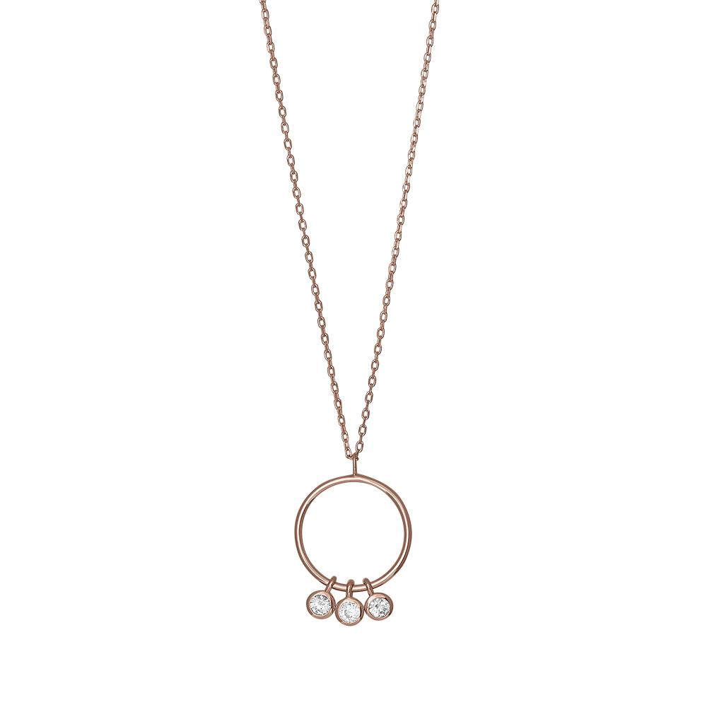 Billede af Joanli EmmyNor halskæde med vedhæng i rosa med cz