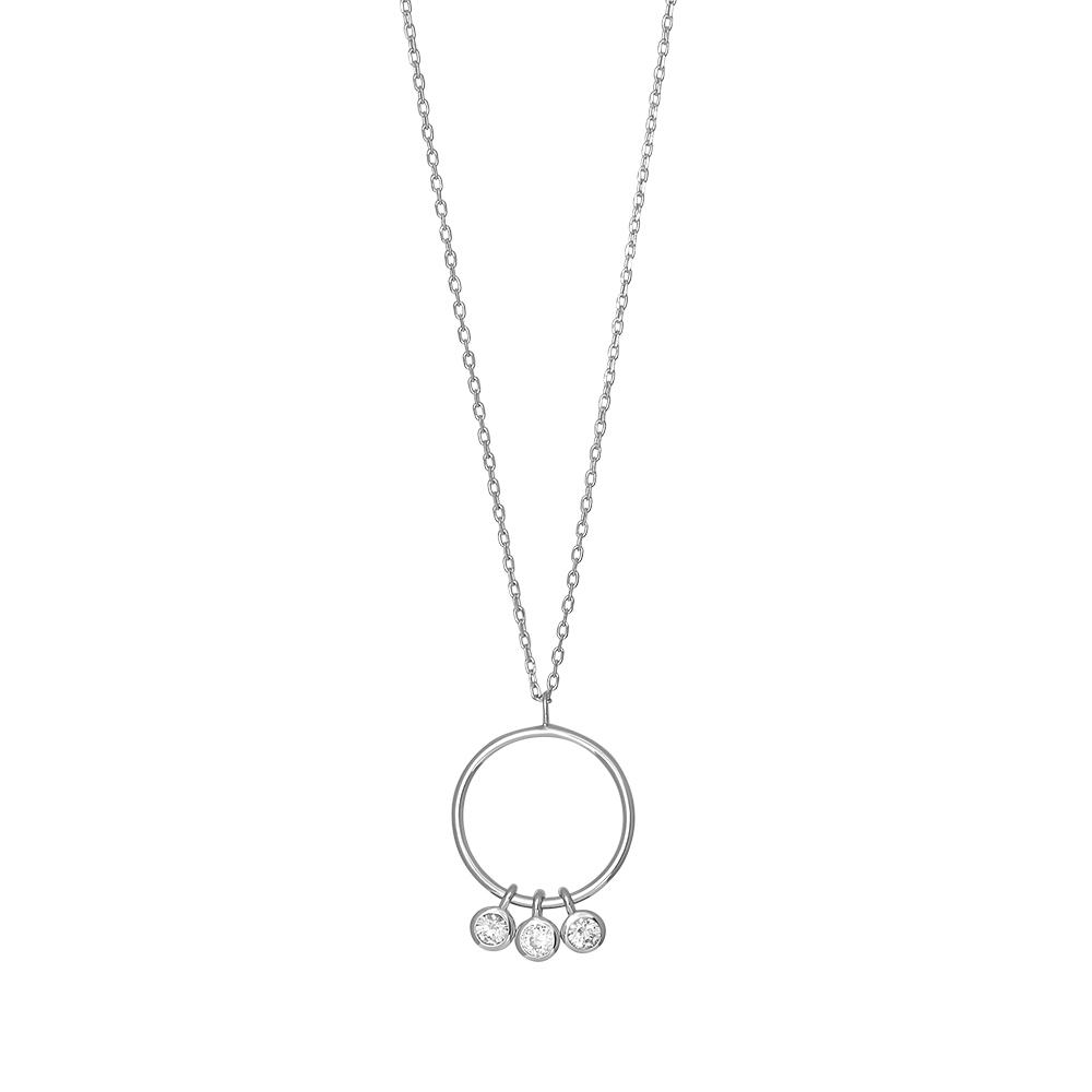 Joanli EmmyNor halskæde med vedhæng i sølv med cz