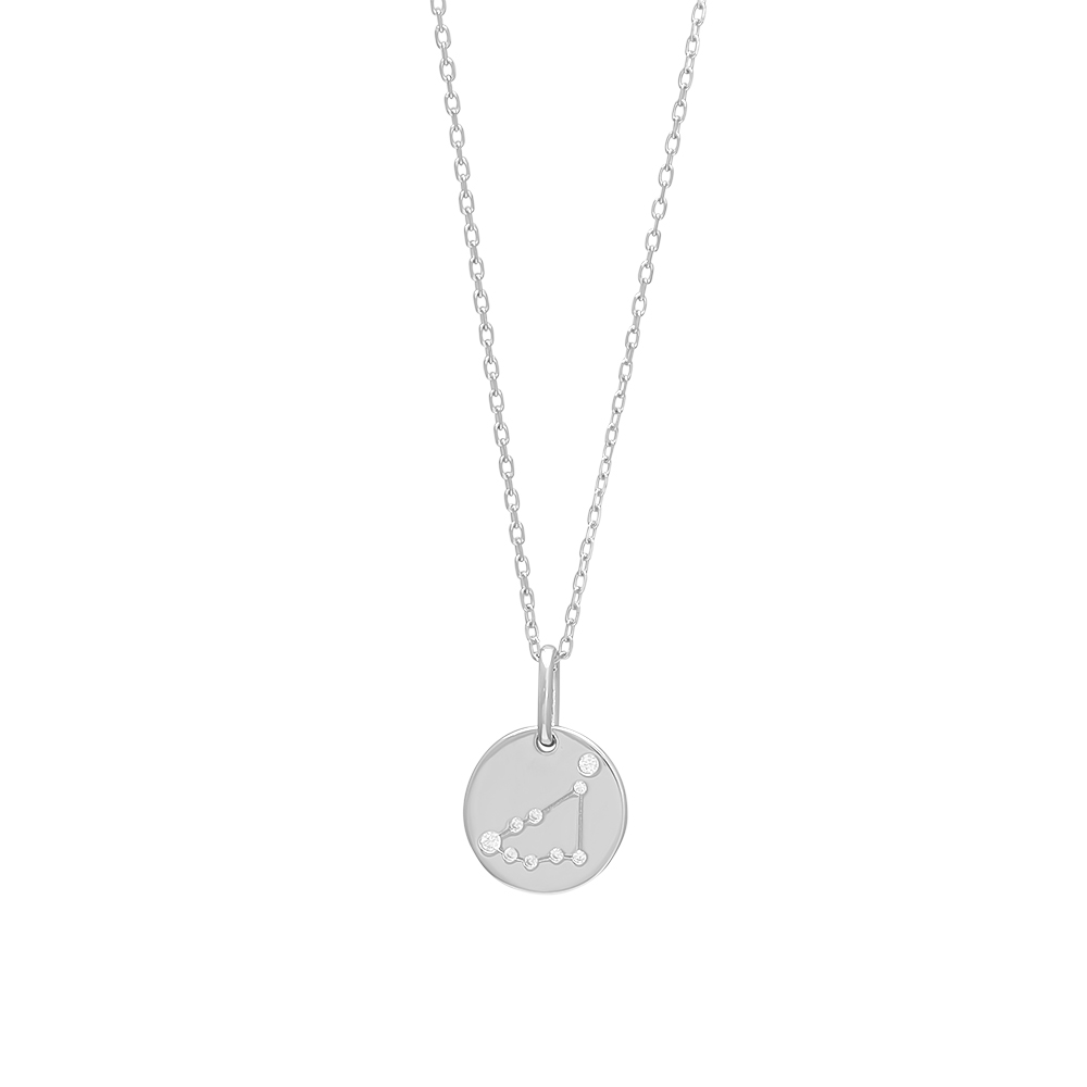 Joanli EstelNor sølv Stenbuk stjernetegn halskæde