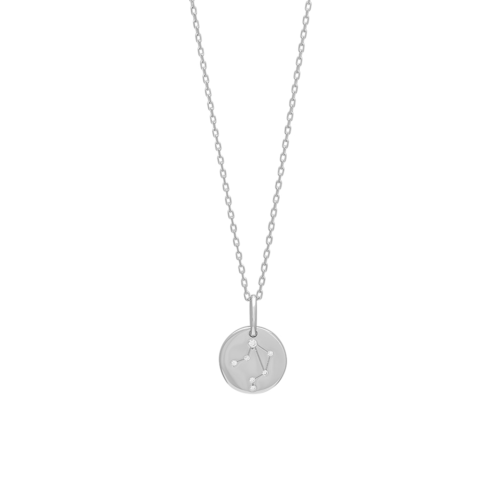 Joanli EstelNor sølv Vægten stjernetegn halskæde