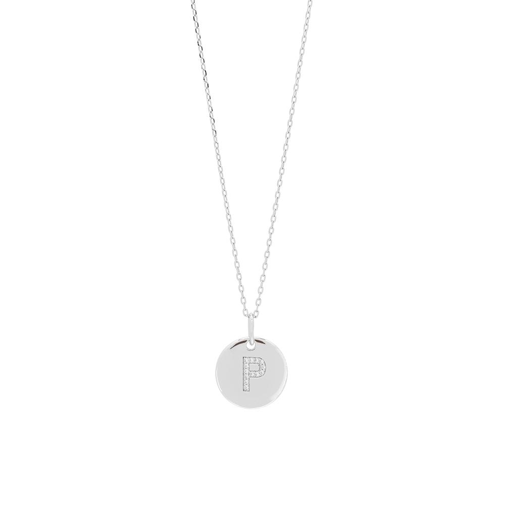 Joanli EllaNor sølv P halskæde, 45 cm