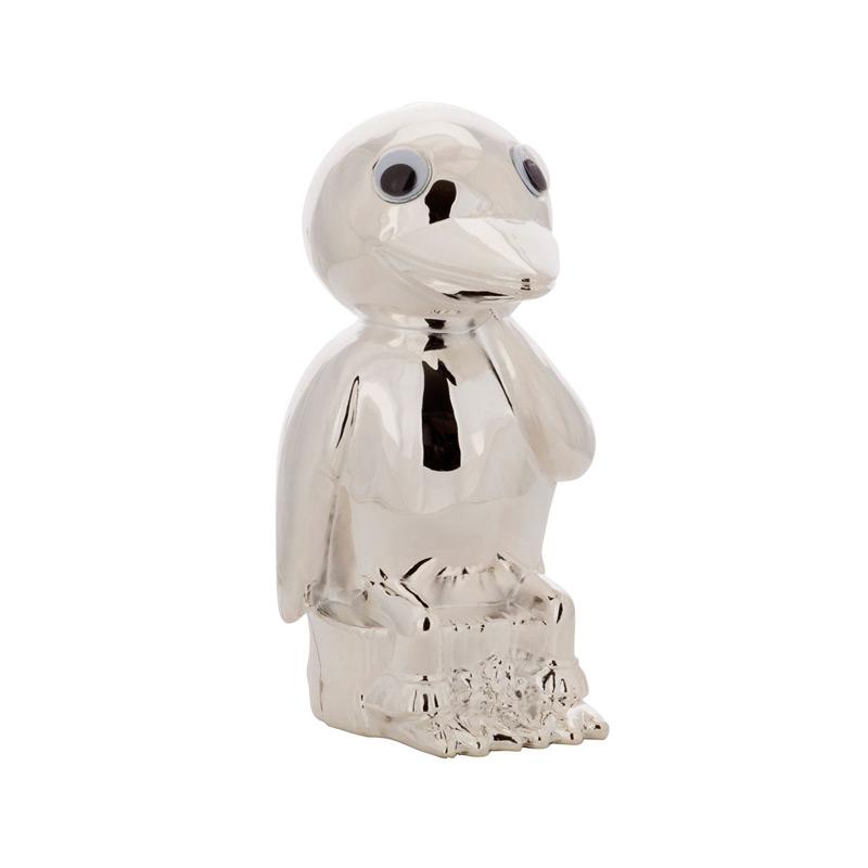 Image of   Sparebøsse Kylling, sølvplet