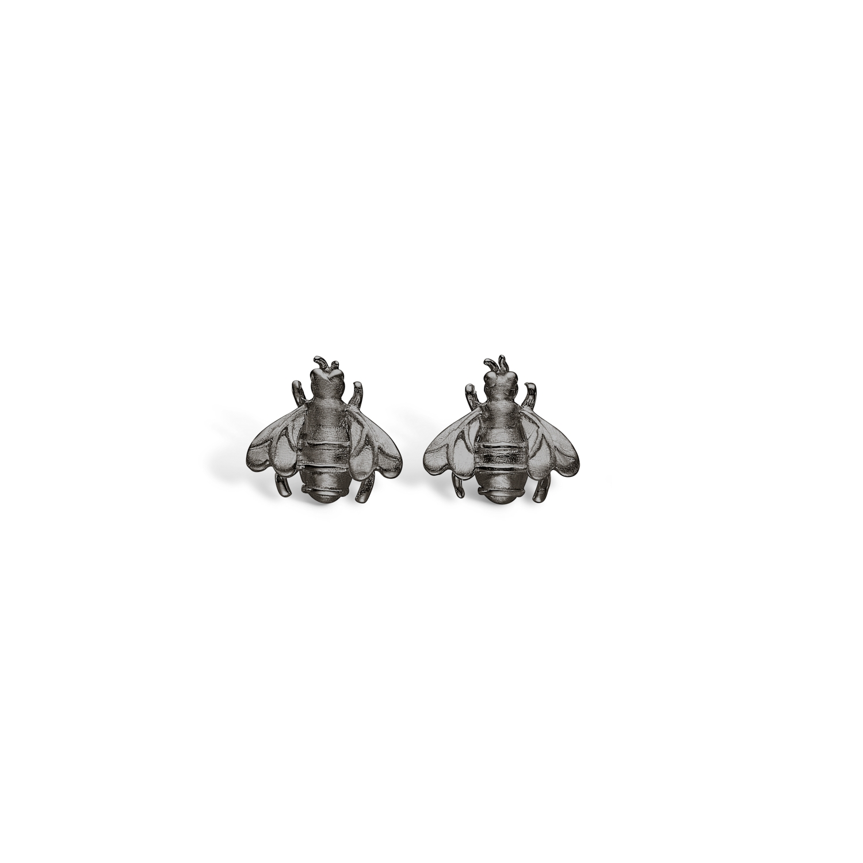 Image of   BLOSSOM bi ørestikker i sort sølv