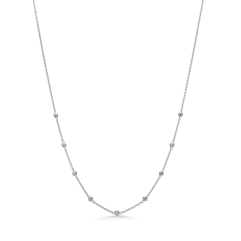 Image of   Mads Z Pellets sølv halskæde, 45 cm