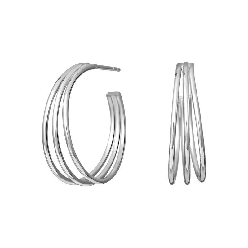 Nordahl Jewellery Wire øreringe i sølv, Ø 25 mm