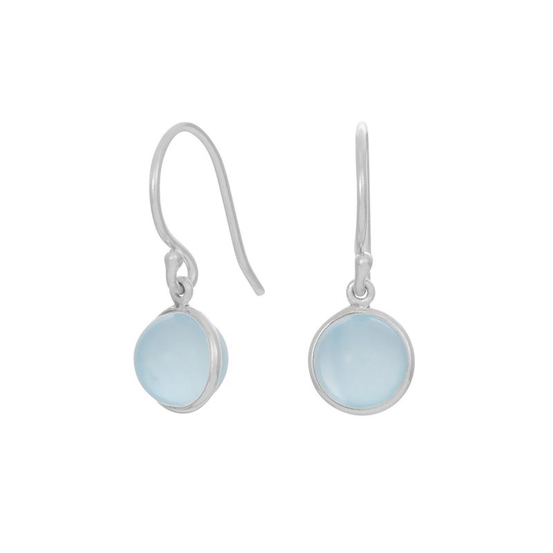 Nordahl Jewellery Sweets øreringe i sølv med blå kalcedon