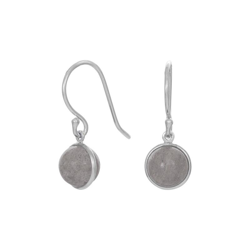 Nordahl Jewellery Sweets øreringe i sølv med grå månesten